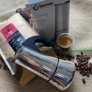 zestaw kawa i kawiarka